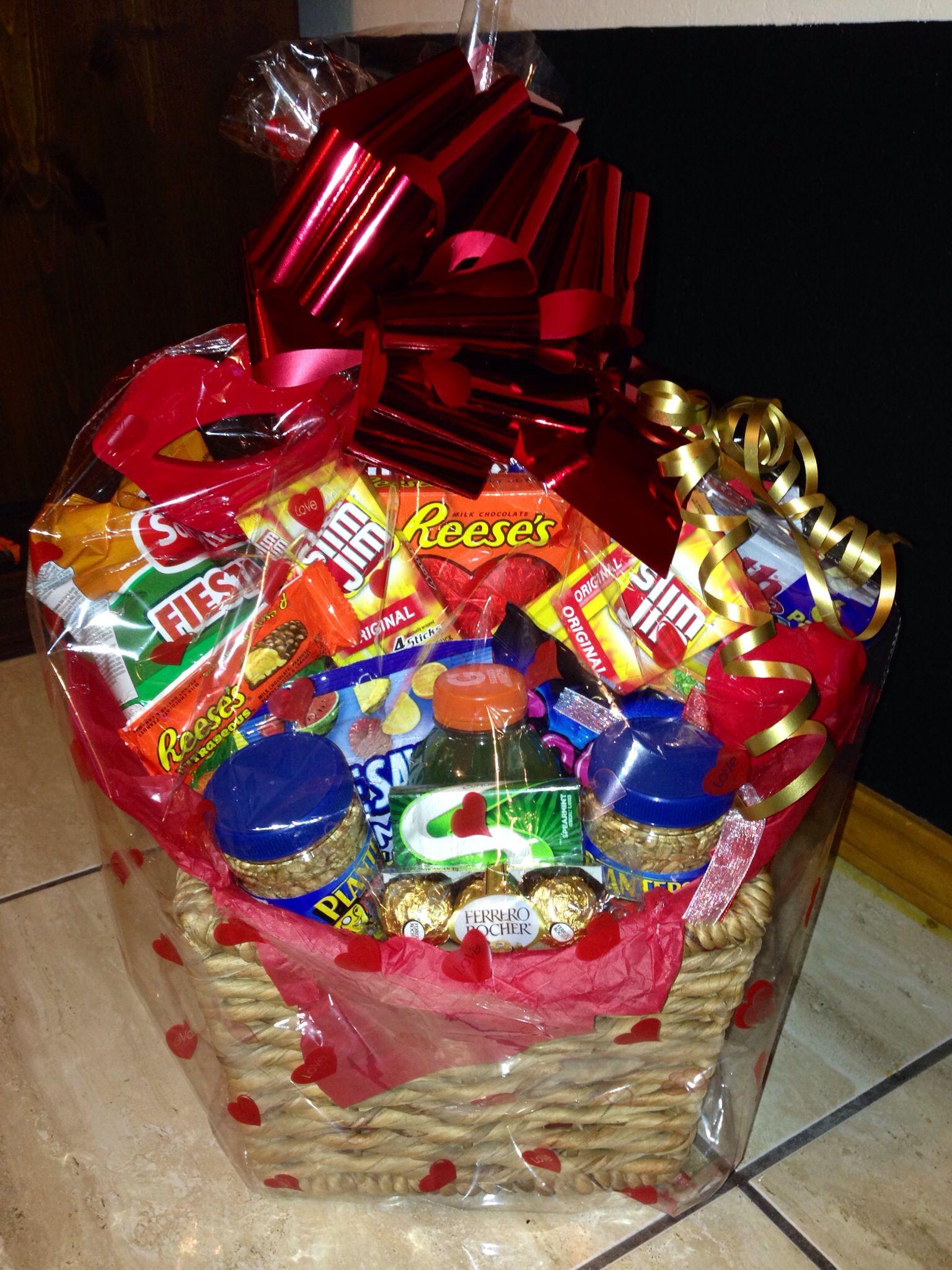 Diy Valentines Basket Valentines Day Baskets Valentine Gift Baskets Valentine S Day Gift Baskets
