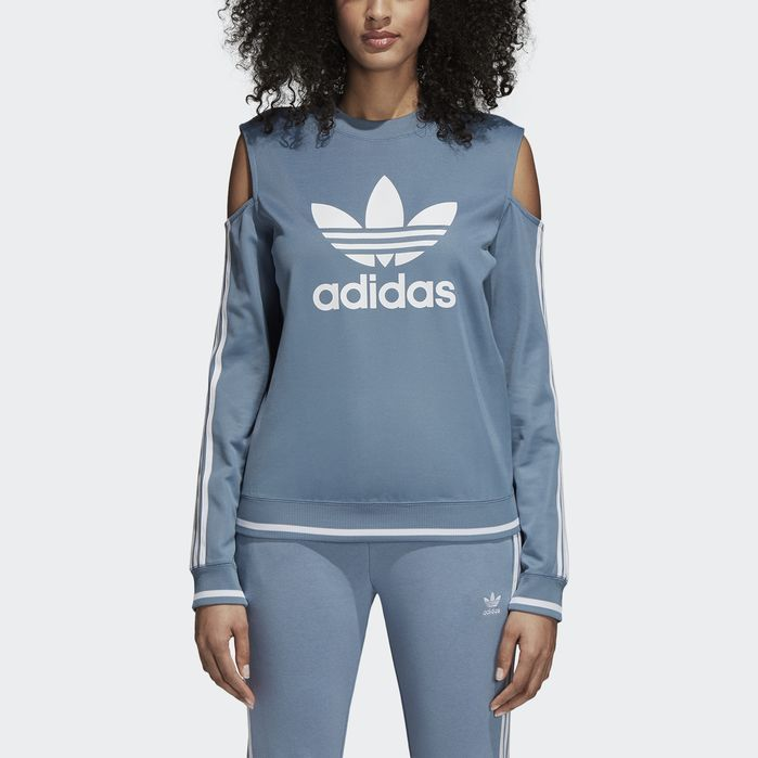 3226e456d Cutout Sweater in 2019 | Products | Cold shoulder sweatshirt, Adidas ...