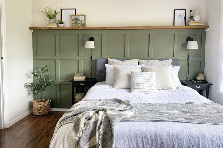 Reader reno: A beautiful bedroom makeover with a board and batten feature wall