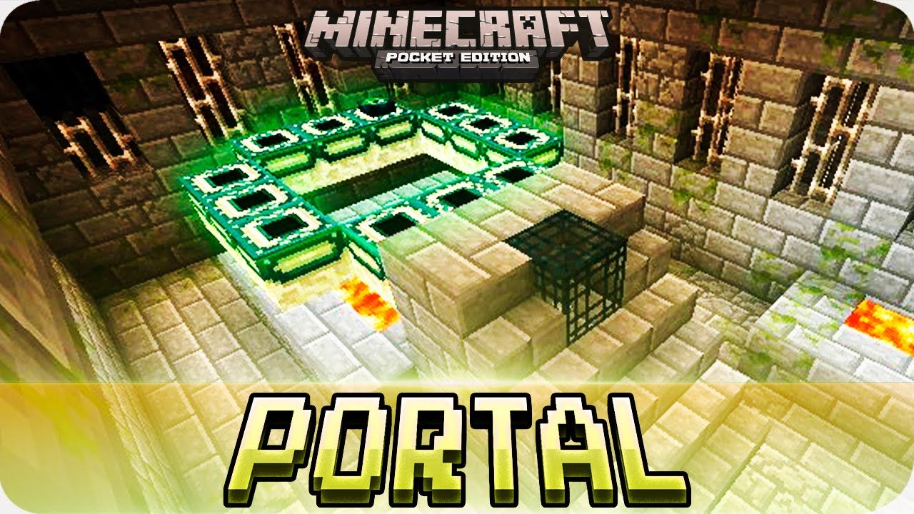 how to create an end portal in minecraft pe