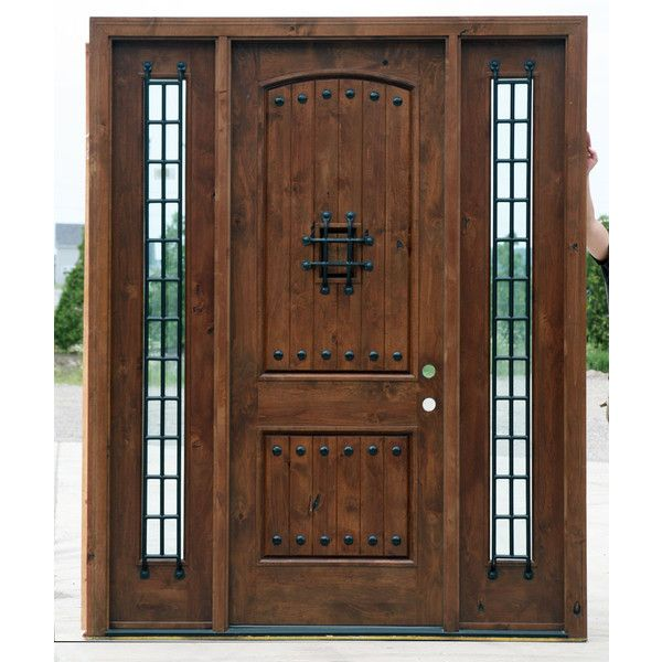 Most Popular Rustic Exterior Doors Knotty Alder clearance priced ❤ liked on Polyvore featuring doors and home