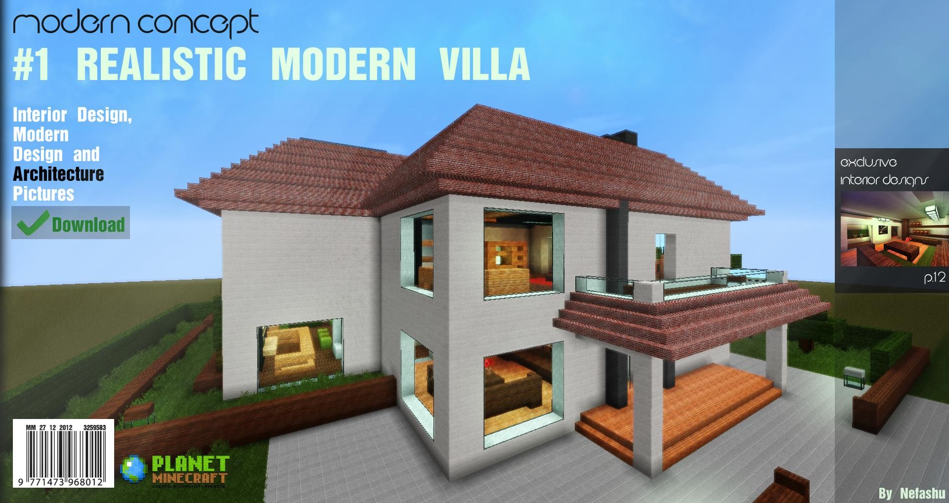Modern house minecraft pe apk house plan 2017 for Modern house 49