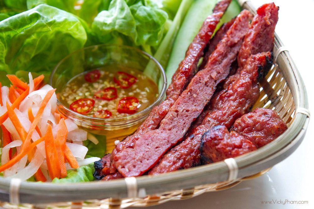 Vietnamese Grilled Pork Sausage (Nem Nuong) | Food | Vietnamese