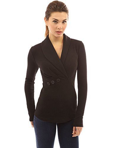 PattyBoutik Women's Shawl Collar Pleated Detail Blouse