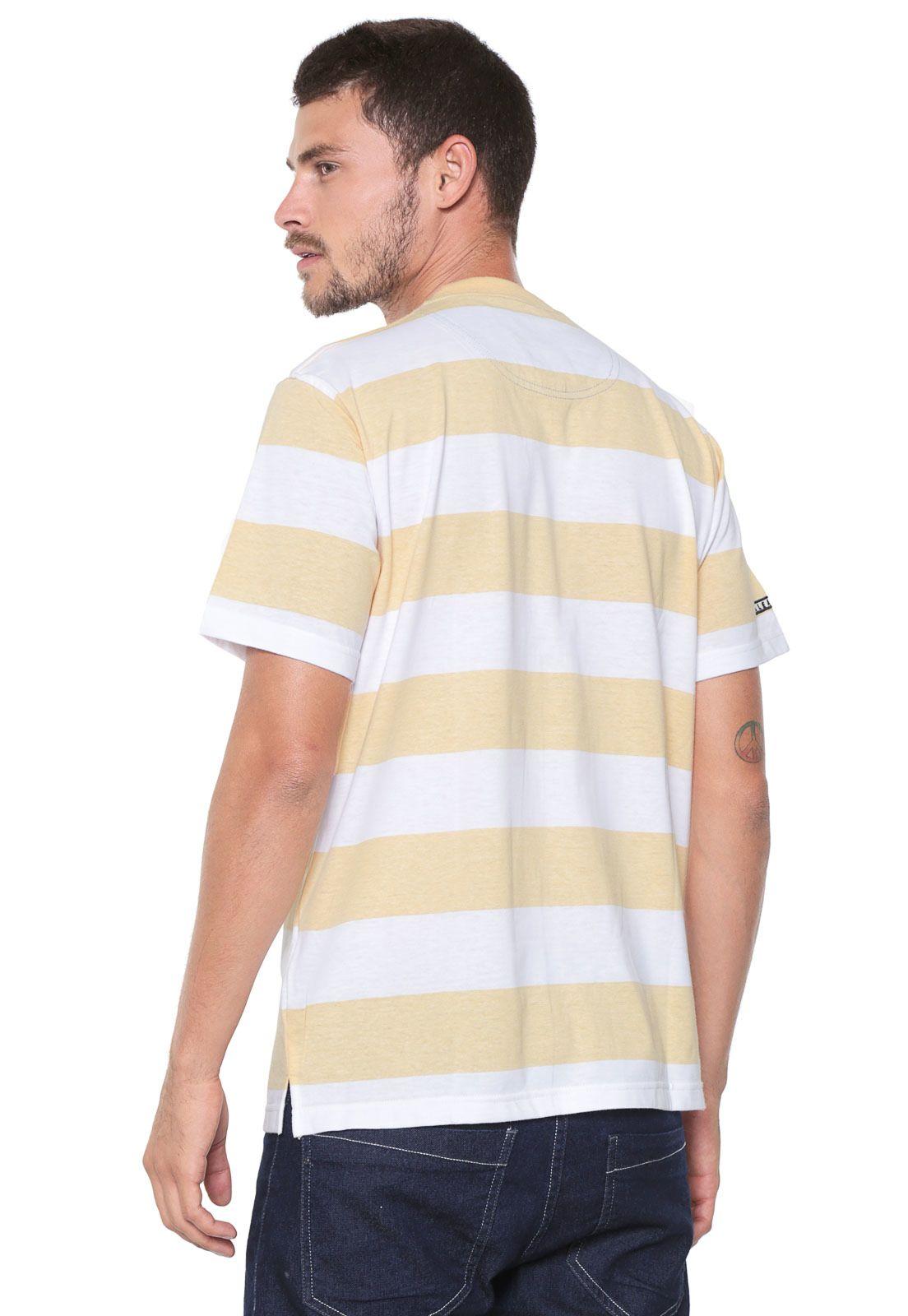 Camiseta Aleatory Listras Branca