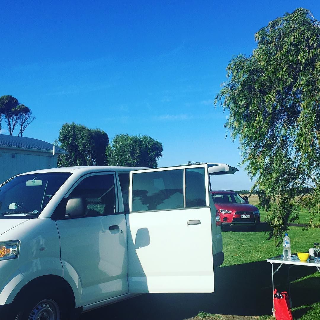 Here we go! First stop Port Fairy  #wickedcampers #visitmelbourne #greatoceanroad #portfairy @dalehickman7 @big4holidayparks by jo_84g http://ift.tt/1UokfWI