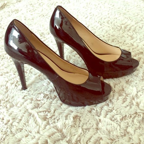 "GUESS black high heels Black patent leather heels, size 9M, 4"" heel Guess Shoes Heels"