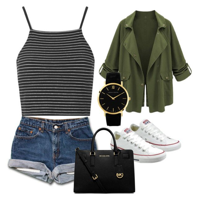 """""""Oh my gosh i love this"""" by gkbliss on Polyvore featuring Topshop, Converse, MICHAEL Michael Kors and Larsson & Jennings"""