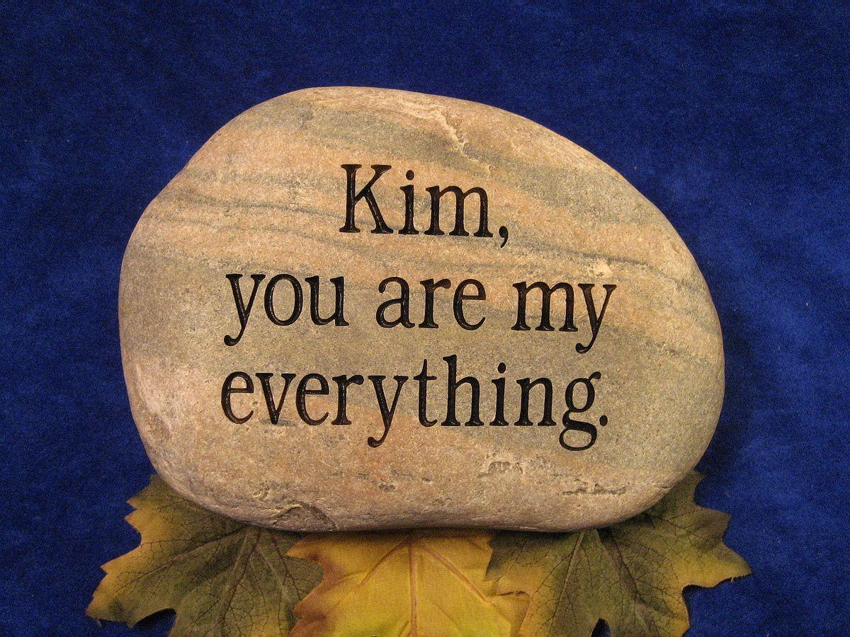 wedding engraved stones, personalized wedding stone, personalized ...