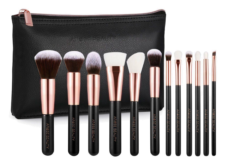 Professional Luxury Rose Gold 12pc Soft Makeup Brush Set