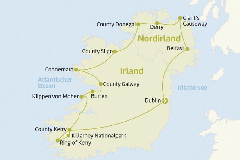 10 Tage Irland Roadtrip Karten Berge Meer Reiseangebote