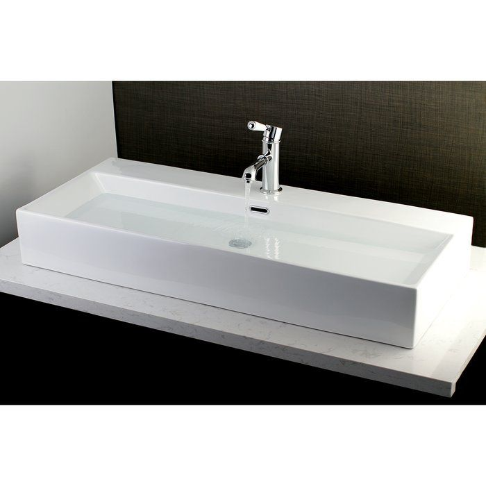 Fauceture Vitreous China Rectangular Vessel Bathroom Sink with