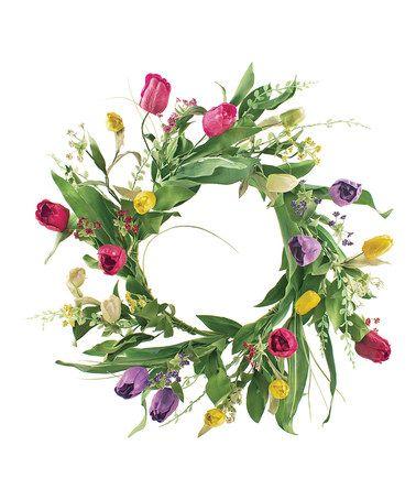 Love this Tulip Wreath on #zulily! #zulilyfinds