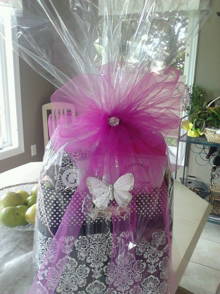 Birthday gift basket by its a wrap custom and creative