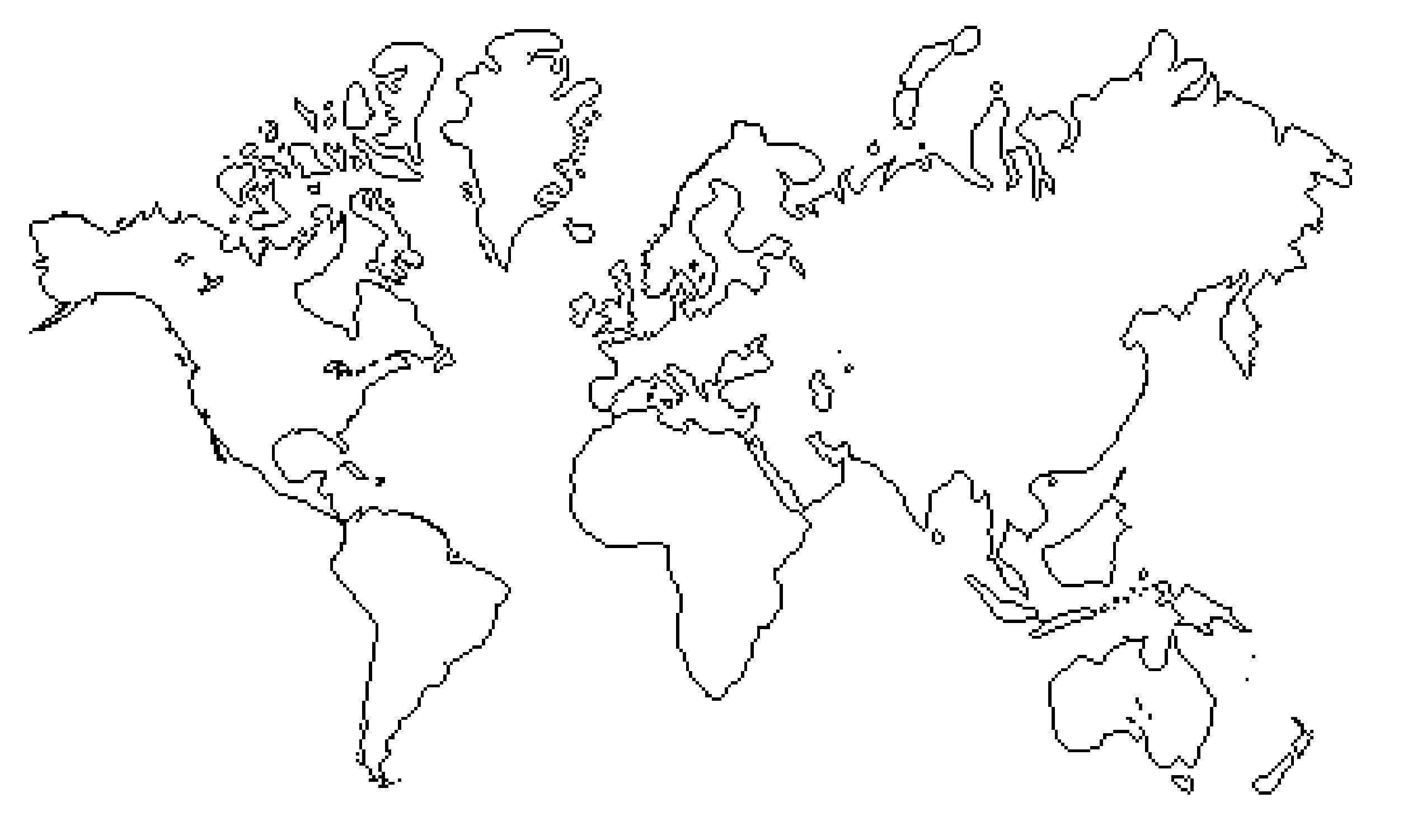 World Map Vector Line Art Best Outline Easy To Draw Fresh