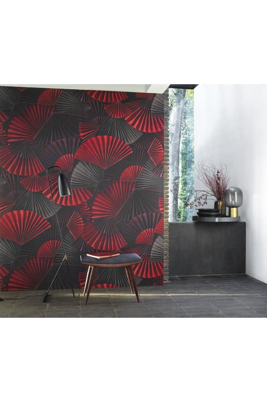 Astuce Pour Décoller Du Papier Peint papier peint panoramique orimasu rouge - natsu de casadéco