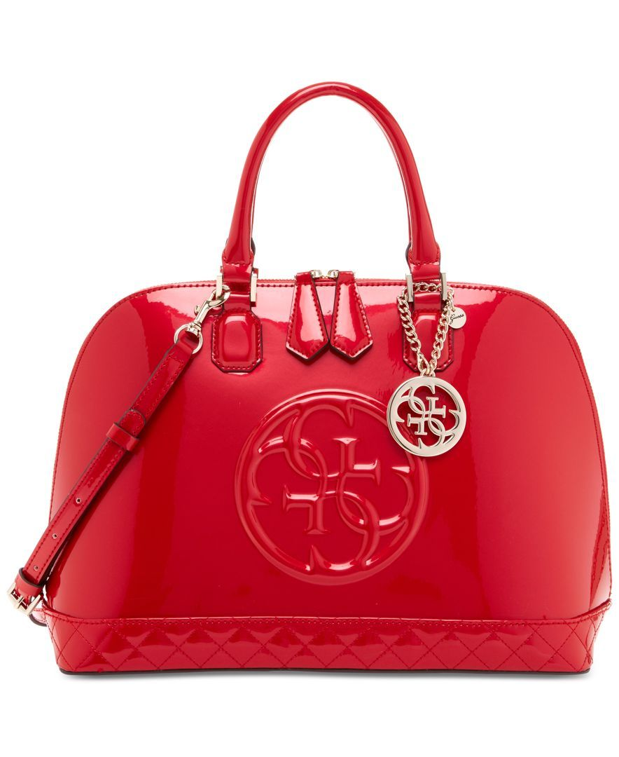 Guess Handbags Guess Korry Dome Satchel Red Bag in 2019