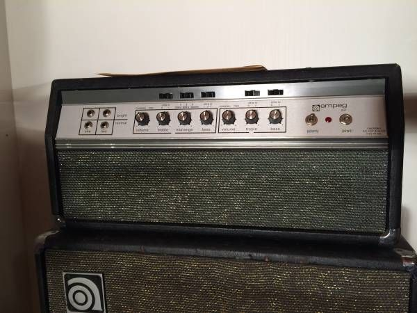 ampeg svt 1973 black line 300w all tube bass amp studio. Black Bedroom Furniture Sets. Home Design Ideas