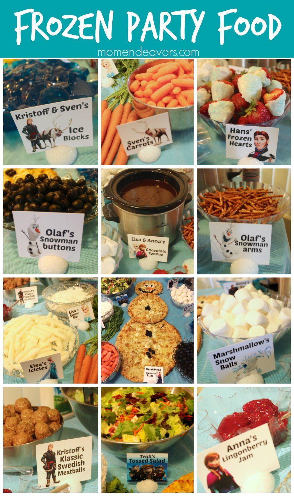 Disney Frozen Party Food Menu - Mom Endeavors