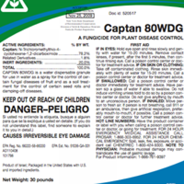 It is a picture of Canny Captan 80 Wg Label