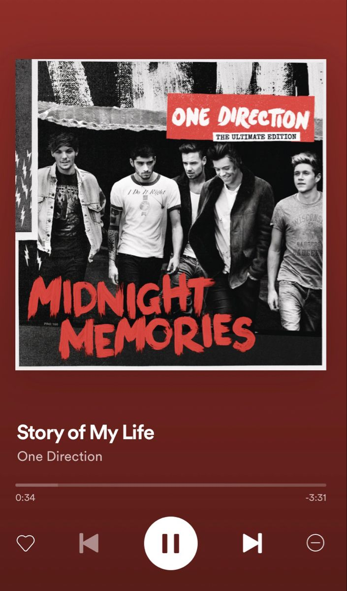 Story Of My Life By One Direction One Direction Posters One Direction Albums Midnight Memories