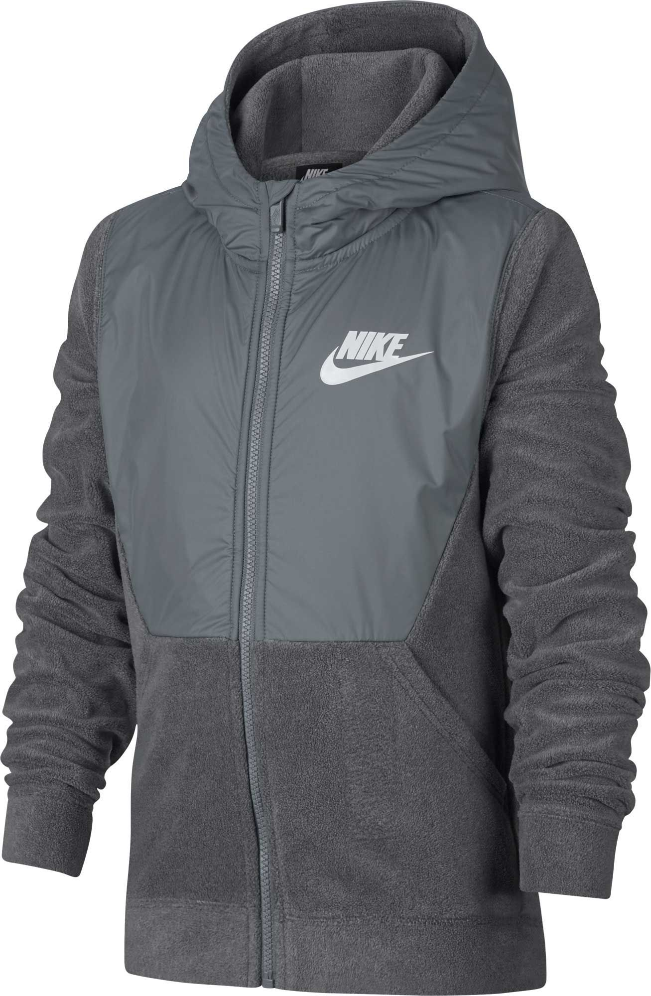 Nike Hoodie Carbon Heather Nike Boys Sportswear Polar Fleece Full Zip Hoodie Size Xl