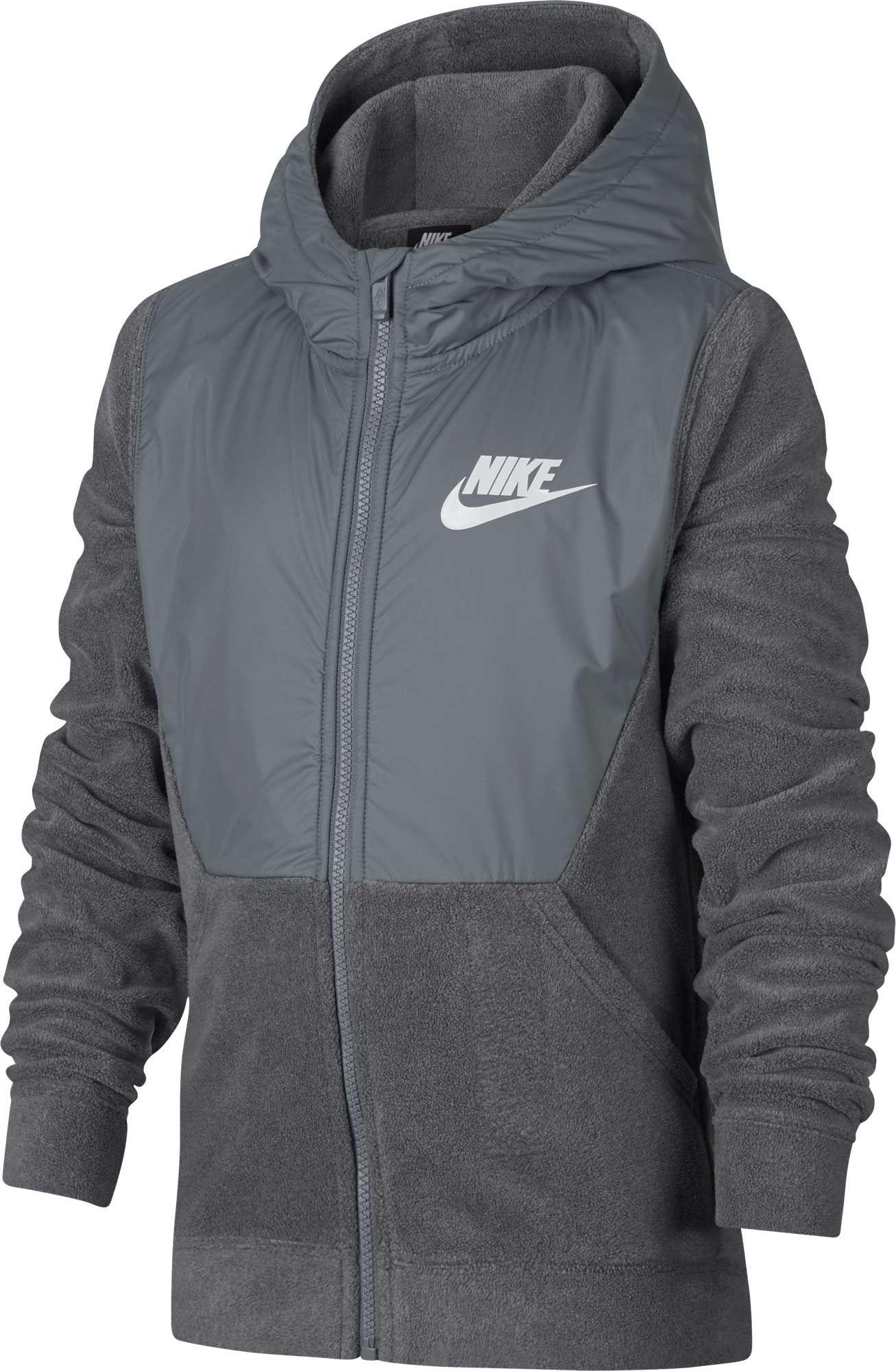 39037f8b4 Nike Boys' Sportswear Polar Fleece Full-Zip Hoodie, Size: XL, Carbon ...
