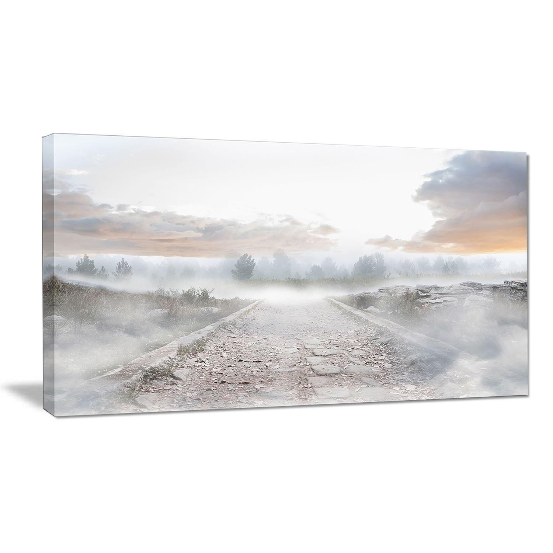 Stony Path to Misty Forest - Landscape Photo Art Print