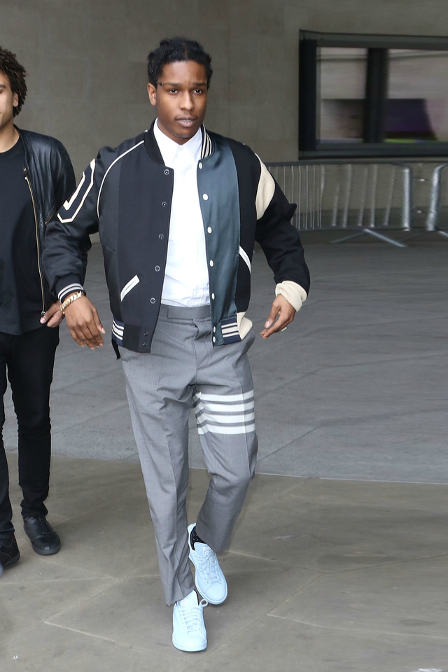 4aadb35fb315 ASAP Rocky - Arriving At BBC Studios on in 2019