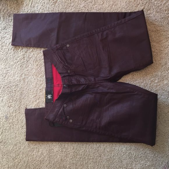 Rock & Republic red pleather NWT skinny jeans Has tags! Rock & Republic Jeans Skinny