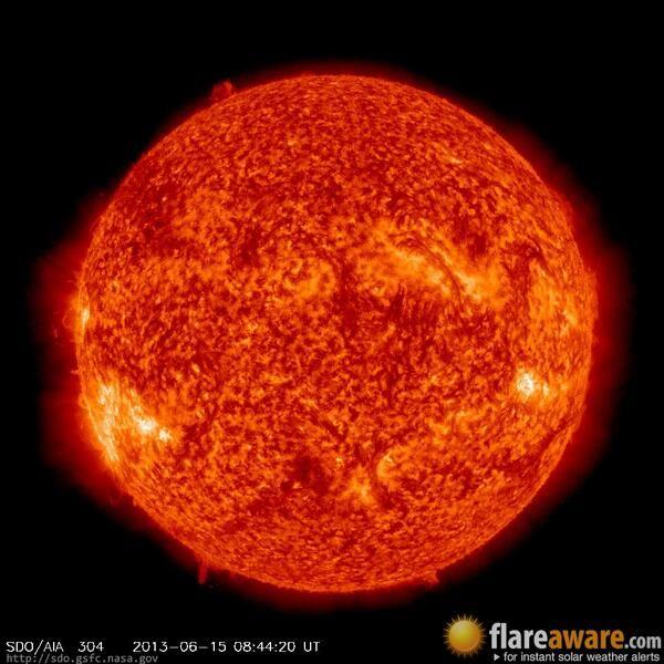 The hourly sun (at 08:44 am  UTC on 15 June 2013)