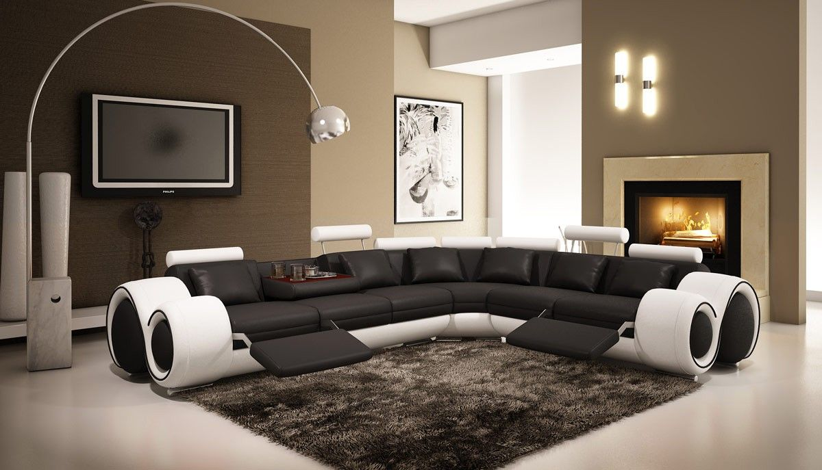 VIG Divani Casa 4087 Leather Sectional Sofa With Recliners VGEV4087 - VIG Furniture Divani Casa 4087 : vig sectional sofa - Sectionals, Sofas & Couches