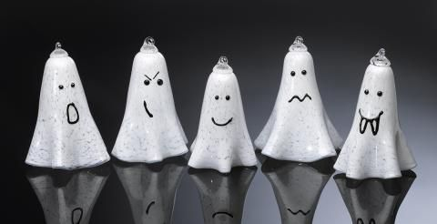 Glass Ghosts  - Perfect decorations for your Halloween party. Available in a variety of characters, these glass ghosts can also be suspended for the ultimate scary mood | Shop One²
