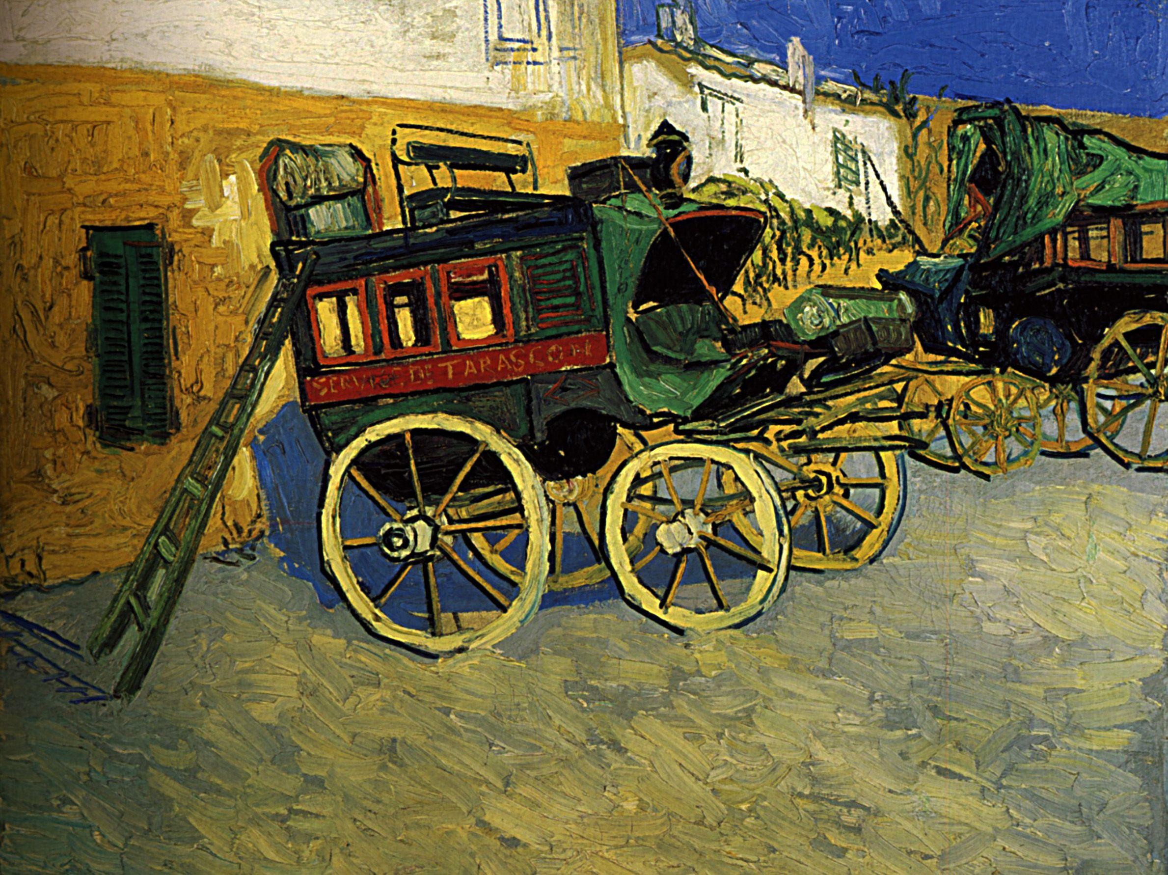 1888 Vincent Van Gogh La Diligence De Tarascon Huile Sur Toile 72x92 Cm Princeton The Art Museum