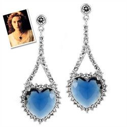 Titanic Earrings - Inspired by Heart of the Ocean