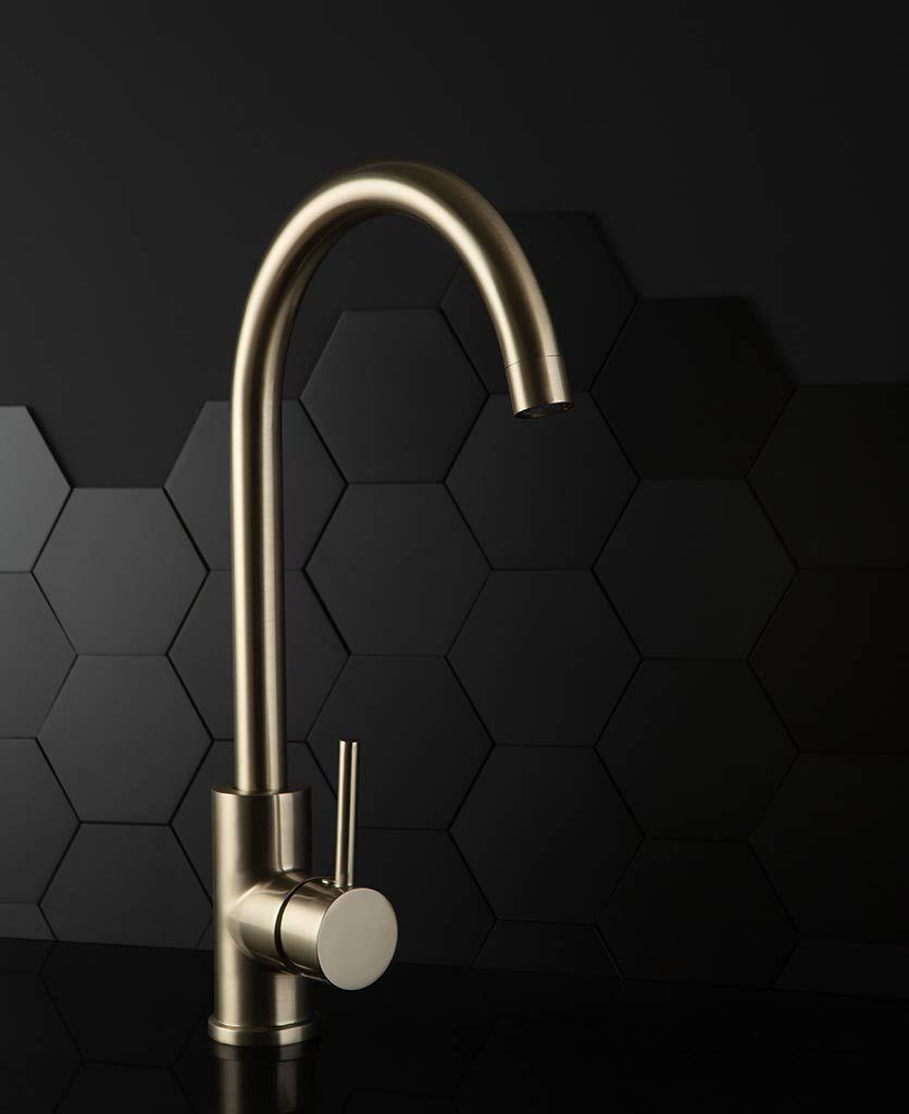 Modern design luxury Brass Single Handle Tap black gold Kitchen sink Faucet