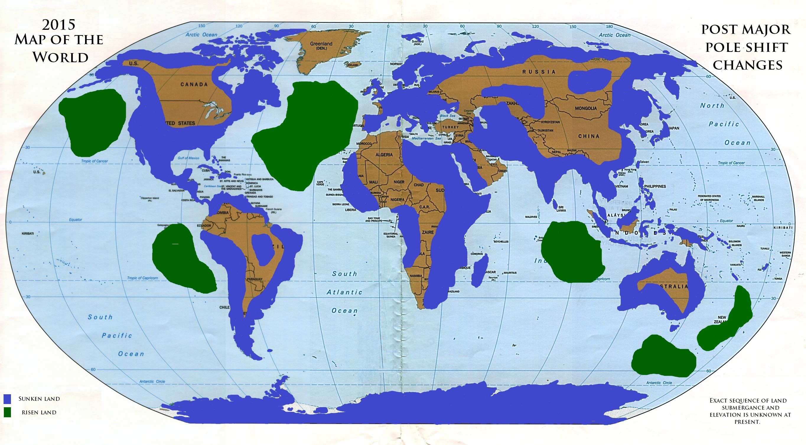 New World Land Maps After A Global Pole Shift Opinions
