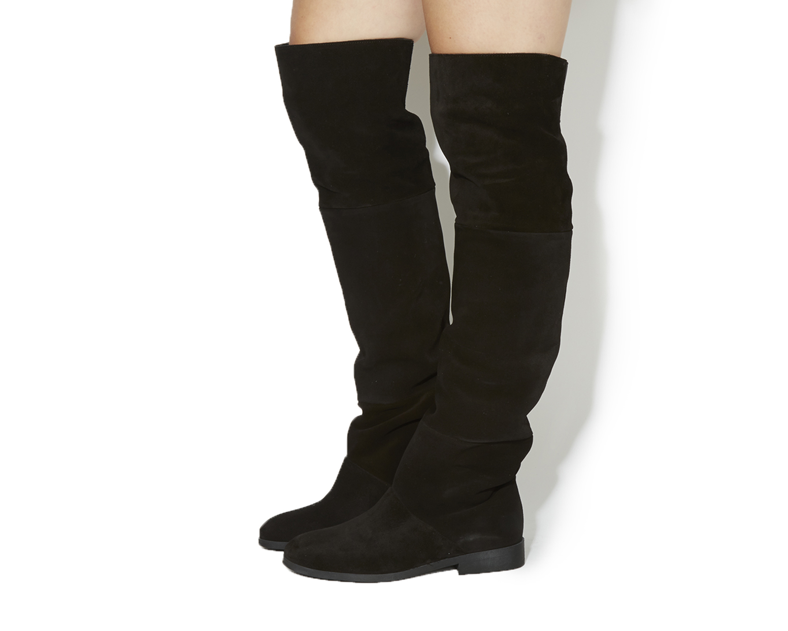 Buy Black Suede Office Embrace Over The Knee Boots from OFFICE.co ...