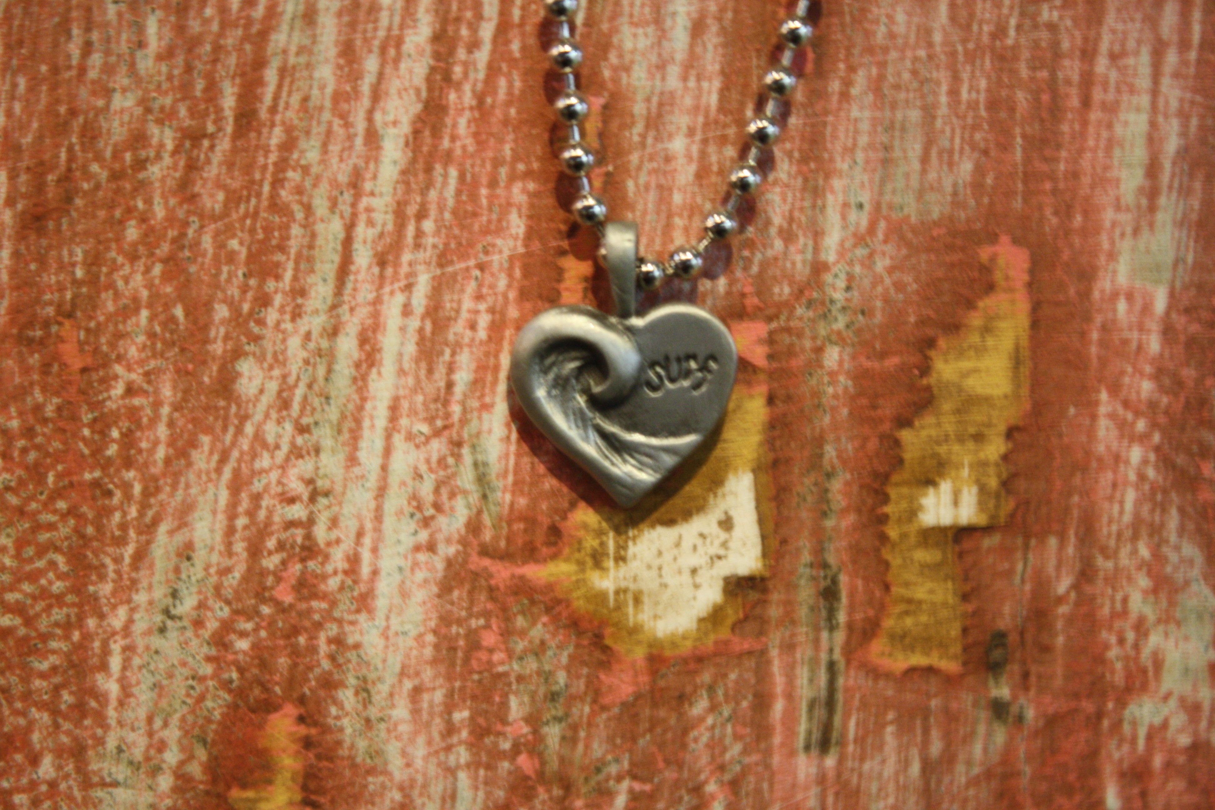 Pewter Heart with Wave  capitolareef.com