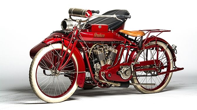 1915 Indian Big Twin With Sidecar Mecum Auctions Sidecar Indian Motorbike Indian Motorcycle