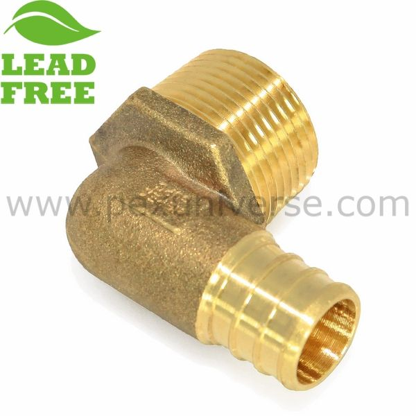 1 2 Pex X 1 2 Male Threaded Elbow Crimp Pex Lead Free Fitting Lead Free Fittings Pex Tubing