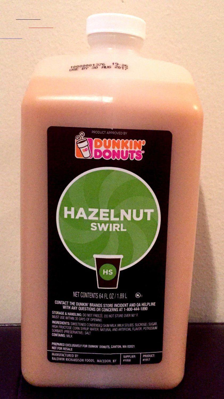 Dunkin donuts hazelnut swirl coffee nutrition