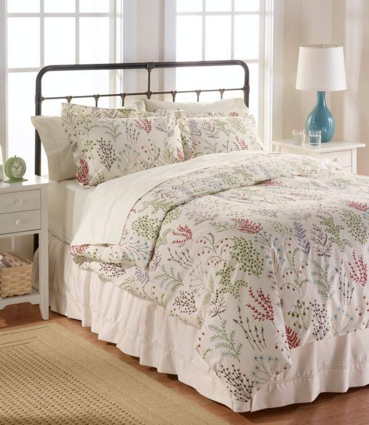 Botanical Floral Percale Comforter Cover Collection Comforter