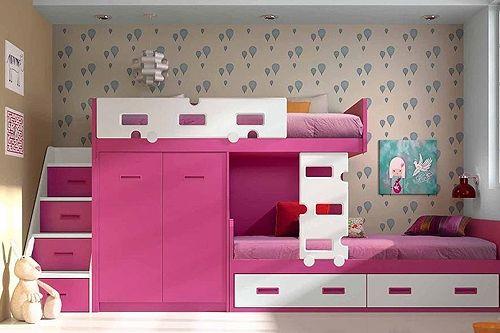 Dormitorio juevnil para chicas habitaciones pinterest for Camas modernas para jovenes