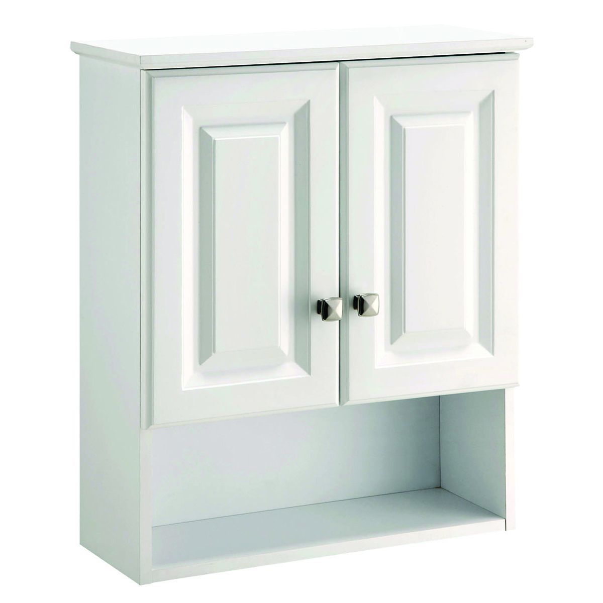 Design House 531715 Wyndham White Semi-gloss Bathroom Wall Cabinet ...