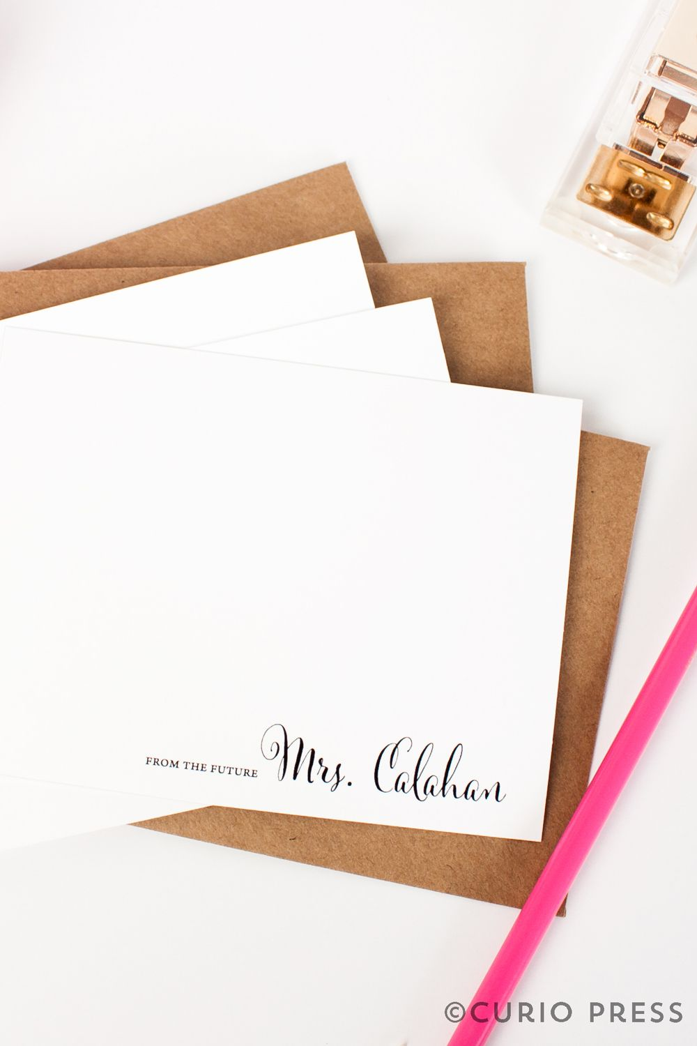 Future Mrs Note Card Set Flat Cards Personalized Engagement