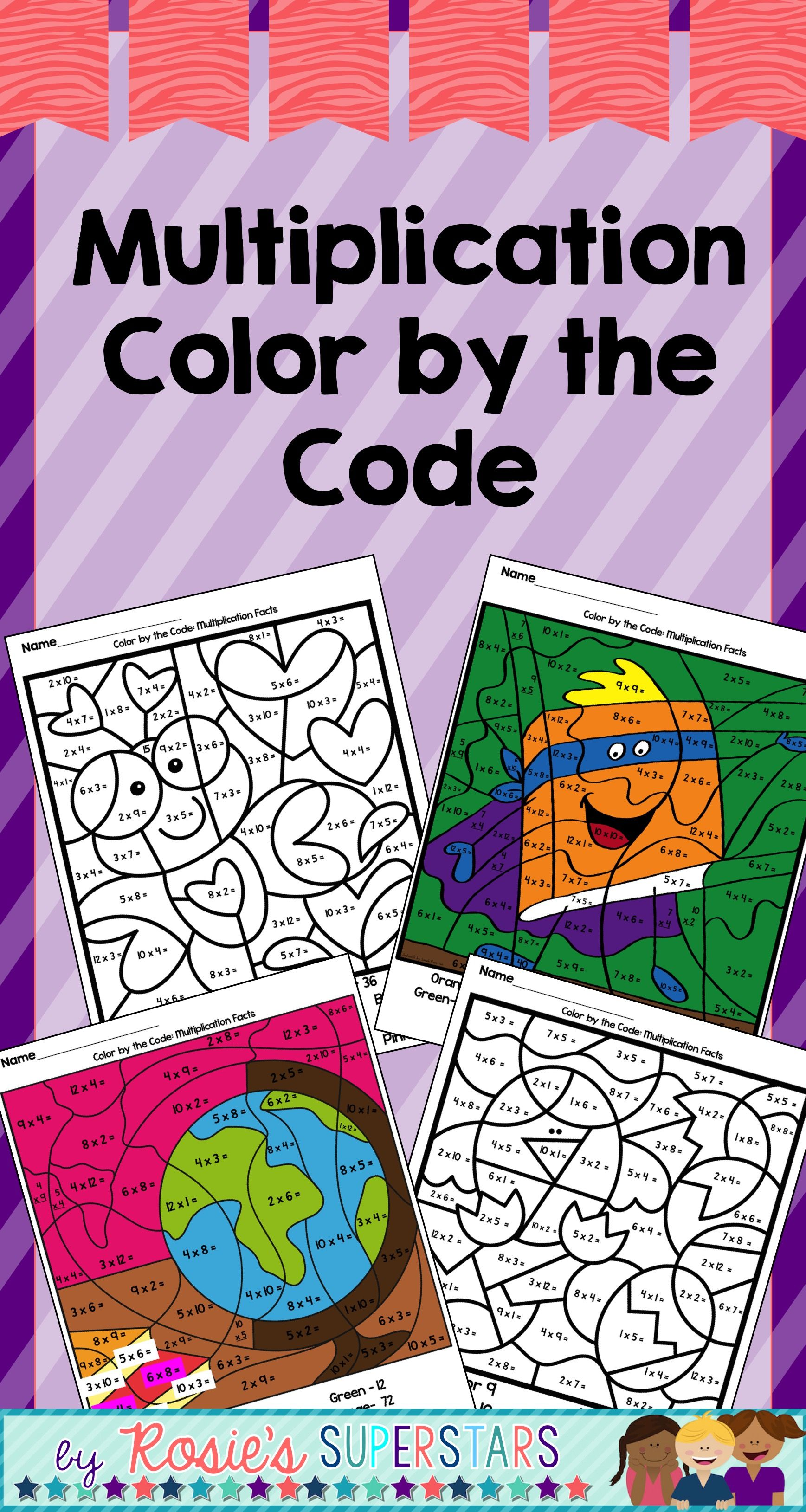 Multiplication Facts Color By The Code With Images