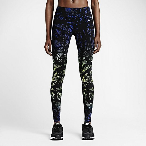 Women's Nike Running Tights Brand new with tags. These are made with tight-  fitting DRI-FiT fabric for comfort and support over any distance. nylon and  ...