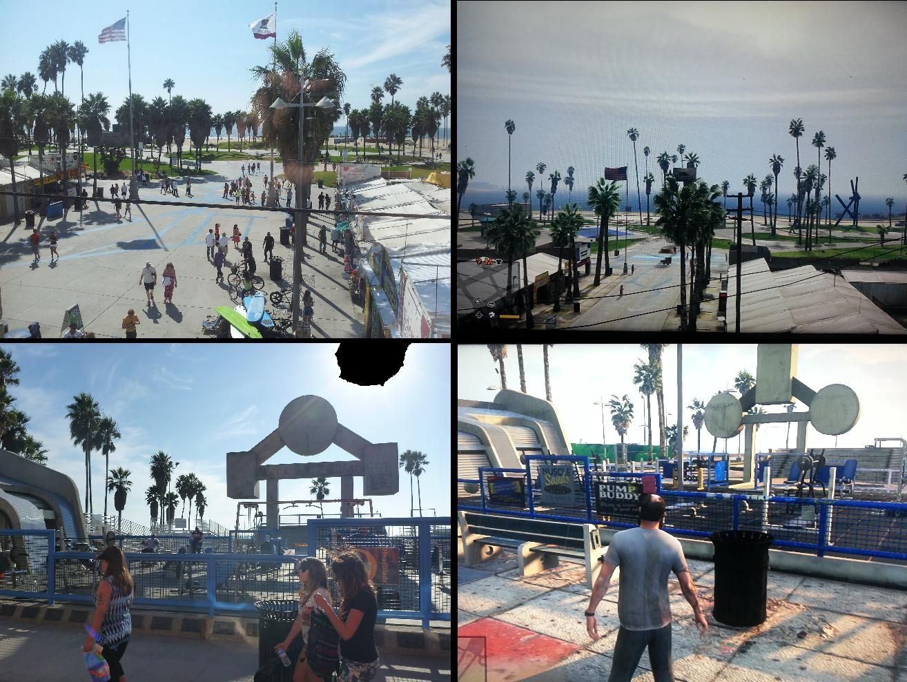 Pictures from my holiday to venice beach last year compared