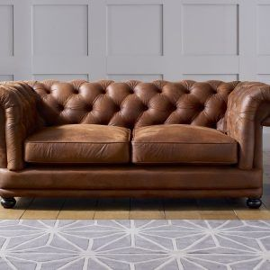 Faux Leather Chesterfield Sofa Bed